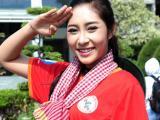 Hoa hậu Đại dương Đặng Thu Thảo tham gia hành trình đạp xe