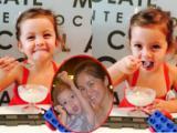 Con gái Hồng Nhung ăn kem siêu đáng yêu
