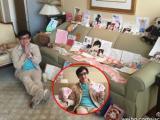 Thành Long khoe được fan tặng tiền mừng sinh nhật trải đầy trên ghế