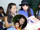 Mai Phương bế con gái 2 tuổi dự sinh nhật Nhã Phương
