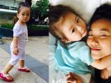 Con gái Đoan Trang đã lẫm chẫm biết đi cực yêu