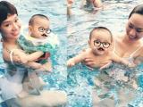 Trà My Idol khoe dáng gợi cảm khi đi bơi cùng con trai