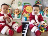 Con trai Vy Oanh đáng yêu khi diện đồ ông già Noel
