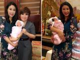 Hoa hậu Hà Kiều Anh rạng rỡ trong tiệc đầy tháng con gái