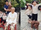 Các con Lý Hải thích thú khi được đón Tết ở quê nội