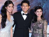 Mẹ chồng Hà Tăng diện váy xuyên thấu đi xem show thời trang NTK Hoàng Hải
