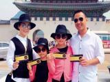 Những khoảnh khắc hạnh phúc của gia đình Quyền Linh ở Hàn Quốc