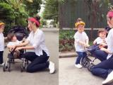 Elly Trần tranh thủ đưa hai con đi chơi ngày Quốc tế thiếu nhi