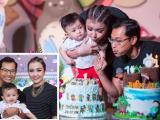 Tiệc sinh nhật đầu tiên tràn ngập sắc màu của con trai Huỳnh Đông
