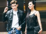 Á hậu Mai Quỳnh thân mật với siêu mẫu Minh Trung trên phố