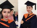 MC Minh Hà hạnh phúc khi nhận được bằng thạc sĩ ở trường đại học Úc