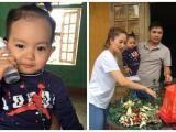 Con trai Khánh Thi mới hơn 1 tuổi đã theo mẹ đi từ thiện tại Hà Tĩnh