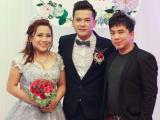 Quang Toàn sành điệu dự đám cưới Hoàng Anh