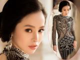 Hoa hậu Hạ My đẹp sắc lạnh trong bộ dạ hội đính đá quý tộc