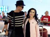Hoa hậu Kristine Thảo Lâm sang trọng và cực chất tại sân bay đón Đoàn Thanh Tài