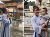 Phi Thanh Vân cùng con đi chùa cầu an sau cuộc đại 'dao kéo'