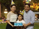 Vợ chồng Thanh Thúy - Đức Thịnh tổ chức sinh nhật ngoài trời cho con trai