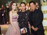 Diễn viên Hồng Ánh xinh đẹp đến chúc mừng doanh nhân Di Băng
