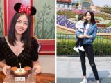 Hoa hậu Thế giới Trương Tử Lâm đón tuổi mới tại công viên Disneyland cùng con gái cưng