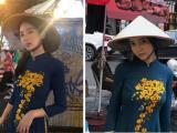 Tình cũ của T.O.P (Big Bang) khiến cư dân mạng Việt nổi giận khi mặc áo dài, phì phèo thuốc lá