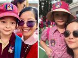 Loạt sao Việt nô nức đưa con đến trường ngày đầu năm học mới