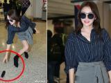 'Phú Sát Hoàng hậu' Tần Lam được khen hết lời với hành động cúi gập mình nhặt đồ giúp phóng viên