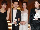 Hari Won lẻ bóng, Đông Nhi tình tứ bên Ông Cao Thắng trong đám cưới Nhã Phương - Trường Giang