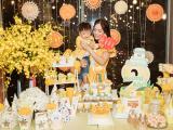 Dương Cẩm Lynh trang trí tiệc sinh nhật theo chủ đề xe hơi cho con trai