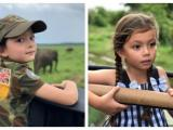 Mới 6 tuổi, cặp sinh đôi của Hồng Nhung đã tự tin thám hiểm rừng nhiệt đới hoang dã