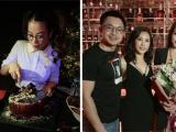 42 tuổi, Trương Ngọc Ánh như gái đôi mươi khi buộc tóc hai bên trong tiệc sinh nhật