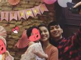 Dân mạng xôn xao về việc Hoài Lâm và bạn gái tổ chức tiệc thôi nôi cho con