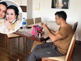 Sau đám cưới, chồng Võ Hạ Trâm bị sốt nhưng vẫn tỉ mẩn làm điều này cho vợ