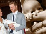 Khoảnh khắc ngọt lụi tim: Con trai Meghan và Harry mắt mở to, bàn tay bé nhỏ nắm ngón tay cha