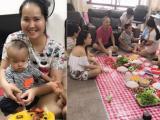 Ca sĩ Minh Hiền tổ chức sinh nhật cho con trai đang trị bệnh ở ngay phòng trọ tại Singapore