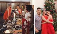 Tổ chức tiệc Noel sớm, vợ chồng Hà Tăng vô tình để lộ mặt con trai