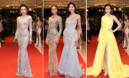 Tân Hoa hậu H'Hen Niê cùng Kỳ Duyên, Đỗ Mỹ Linh, Hoàng Thuỳ khoe sắc trên thảm đỏ