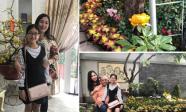 Không gian ngập tràn sắc màu trong vườn nhà nghệ sĩ Hồng Vân - Tuấn Anh