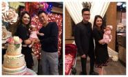 Quang Dũng bảnh bao đến mừng đầy tháng con gái của Thanh Thảo