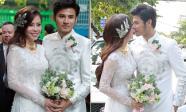 Sao 'Gạo nếp gạo tẻ' Vũ Ngọc Ánh ngọt ngào hôn chồng trong lễ rước dâu