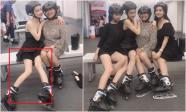 Trượt băng cùng 'hội chị em gái', Nhã Phương lộ đôi chân gầy nhẳng