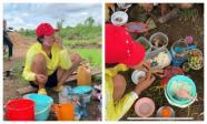 Rũ mác Hoa hậu, H'Hen Niê lội ruộng làm đồng, ăn cơm cá khô với biểu cảm khó đỡ nhất