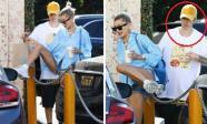 """Biểu cảm của Justin Bieber khi thấy cô vợ mặc quần ngắn cũn còn dám """"vượt rào"""""""