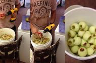 Gọt táo chuyên nghiệp