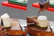 'Thánh' gọt dừa
