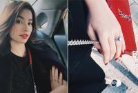 Hoa hậu Phạm Hương gây xôn xao khi khoe khéo nhẫn kim cương 'khủng' ở ngón áp út
