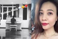Không chỉ nói lời ngọt ngào, Cường Đô la còn đàn cho Đàm Thu Trang nghe giữa ngày mưa