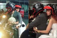 Kelvin Khánh cưỡi mô tô nghìn đô đón cô dâu Khởi My 'về dinh'