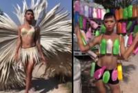 Dân mạng 'phát sốt' với màn trình diễn thời trang 'tự chế' của chàng trai trẻ