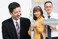 Nghệ sĩ Chí Trung tươi cười rạng rỡ trong ngày ăn hỏi của con trai