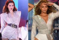 'Đụng đồ' với Beyonce nhưng Hồ Ngọc Hà mới là người đi trước